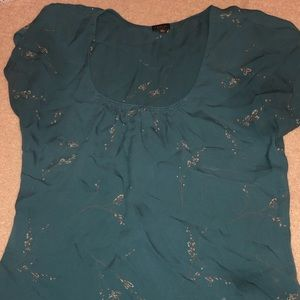 Babaton silk blouse with gold details